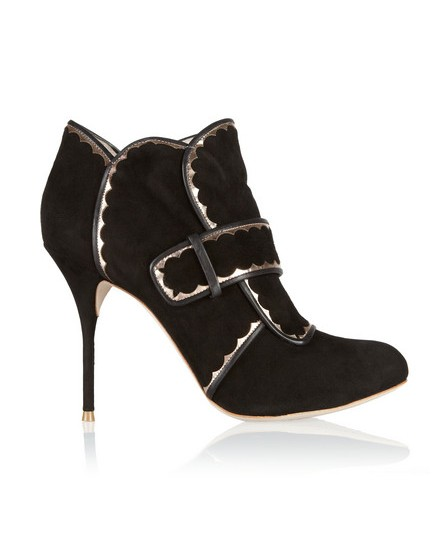 Sophia Webster suede ankle boots made of leather with metallic leather trim