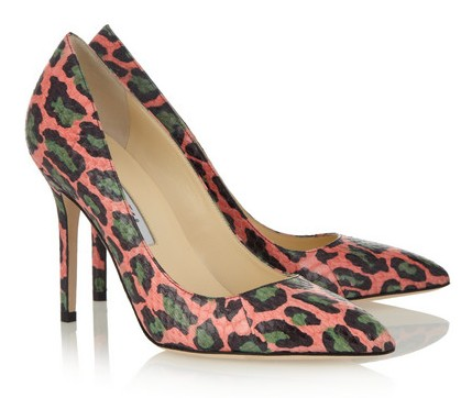 Brian Atwood Cassandra Elaphe pumps with leopard print