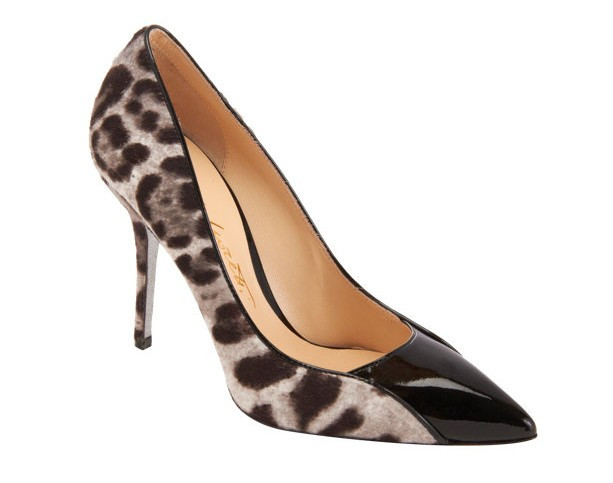 Alberto Moretti Leopard pump with pointed toes