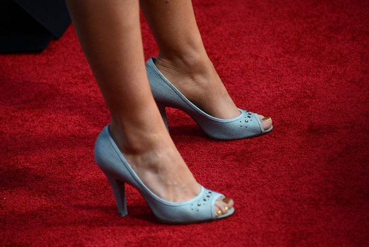 Peep toe pumps by Alia Shawkat