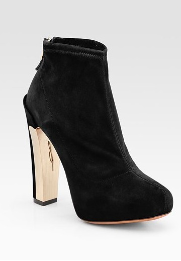 Edeline Black Stretch Suede Ankle Boots ($ 450)