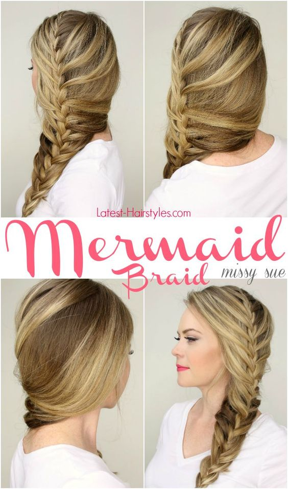 Ombre mermaid braid over