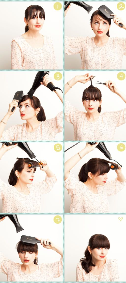 How-to-style heavy bangs over