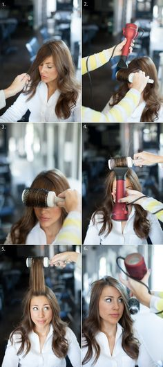 to blow dry pony over