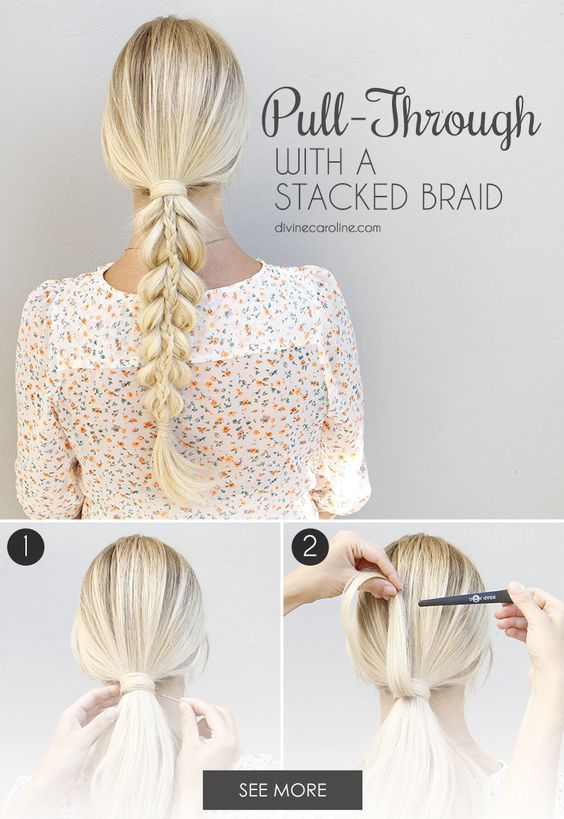 stacked braid over