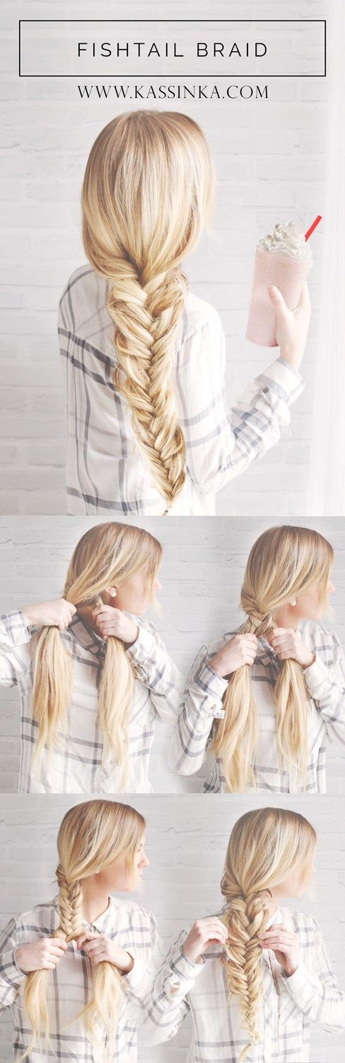 dull fishtail braid over