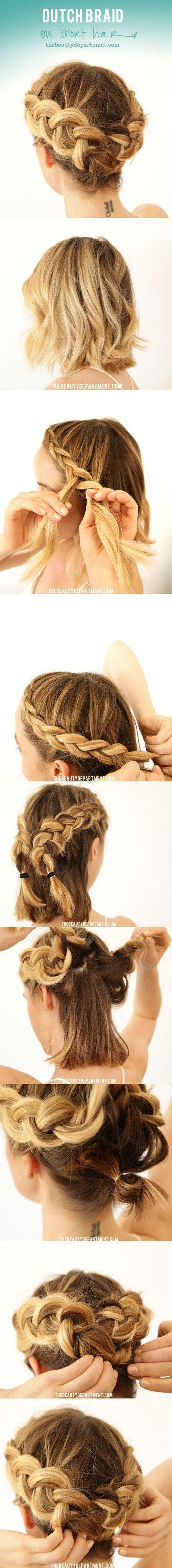Dutch braid over