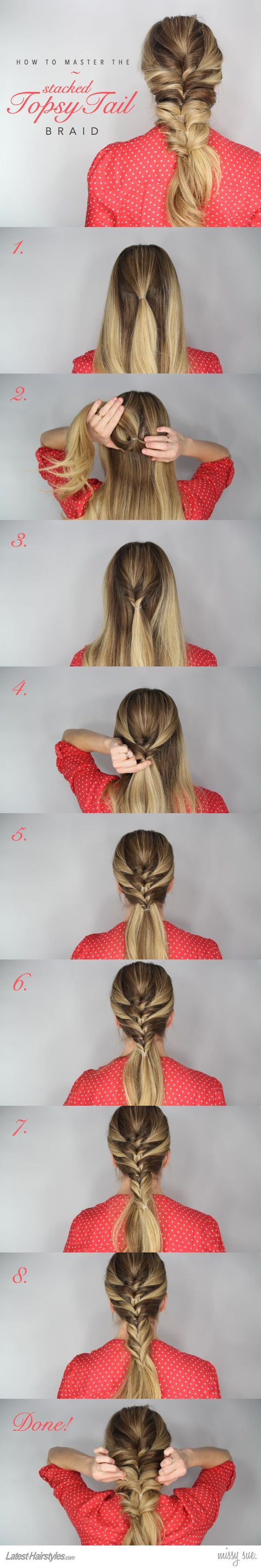 Stacked-Topsy-Tail-Braid over