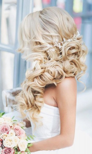 Side part for thick hair over