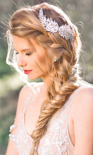 braided side part for brown hair over