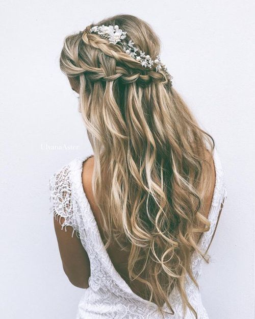 Waterfall braid hair over