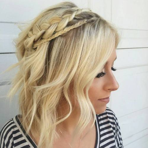 Simple crown braid