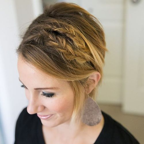 Double braids for short pixie cut