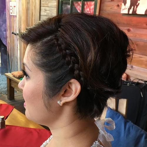 Side braid for short hair