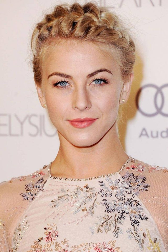 Julianne Hough Crown Braid over