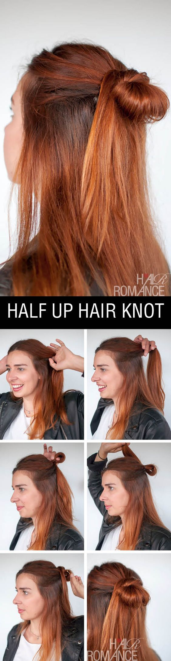 Half up hair knot for light hair over