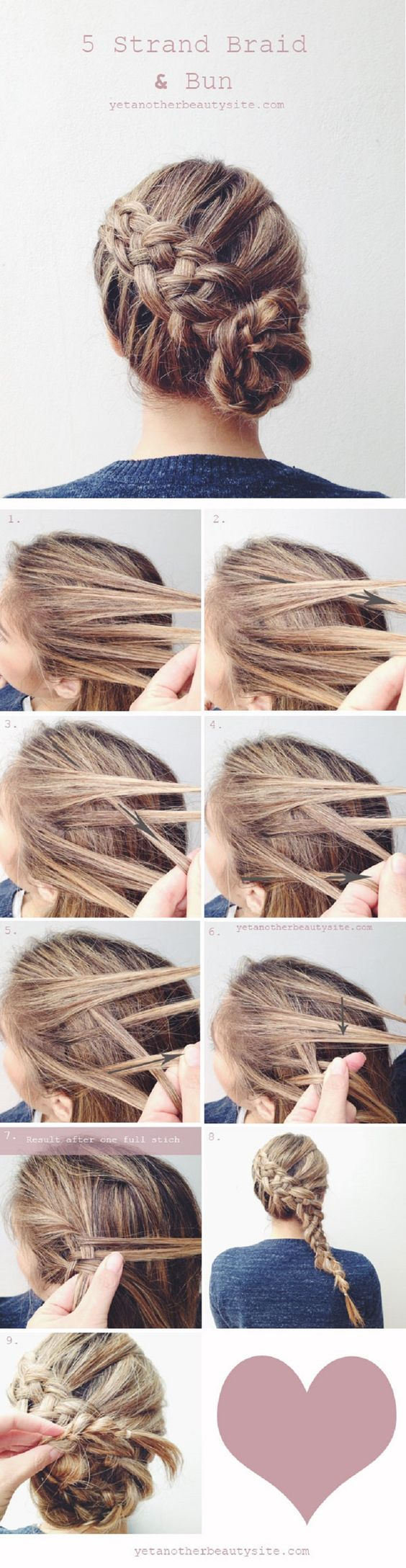 5 strand of braided hair over