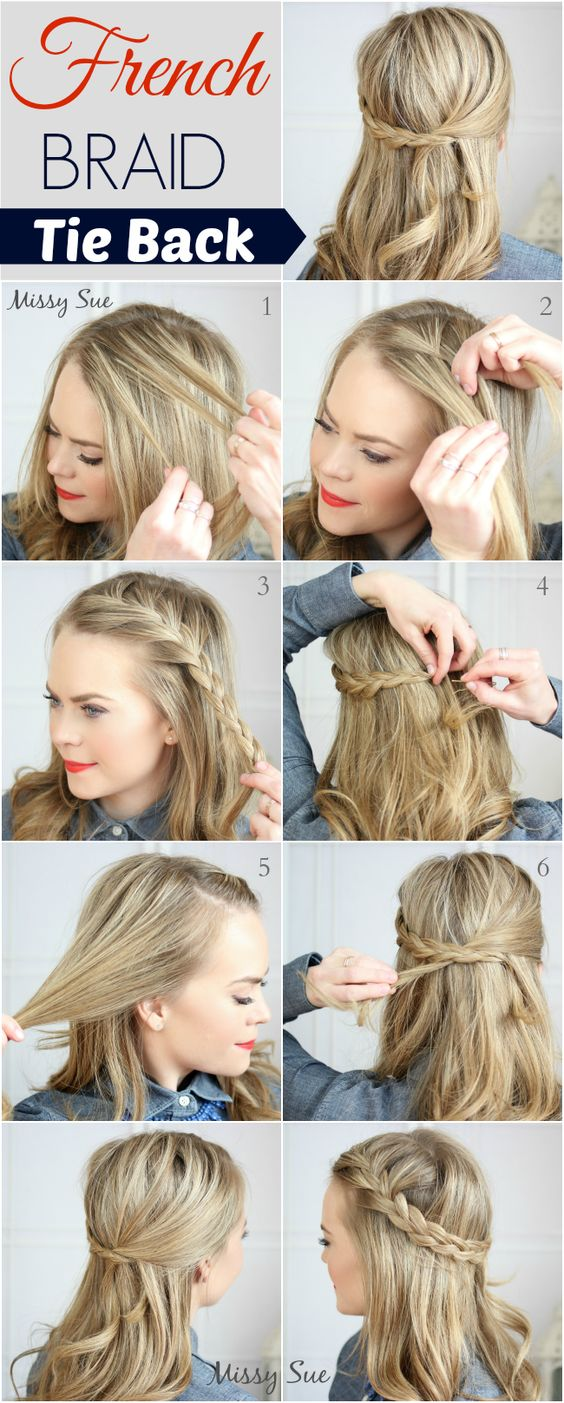 Tie the braid back over