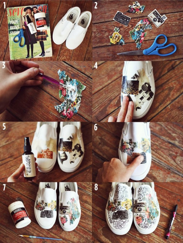 Sneakers with a stylish print