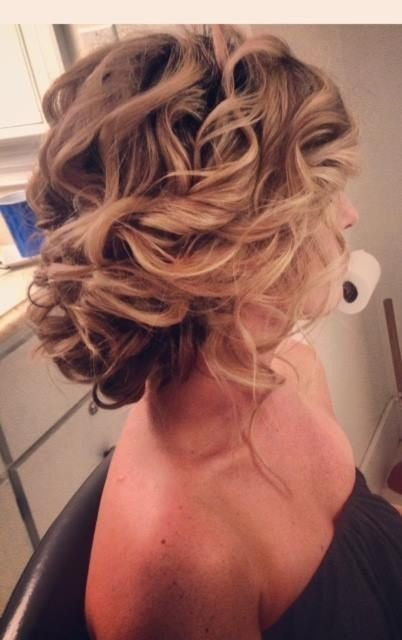 Chaotic updo for wedding