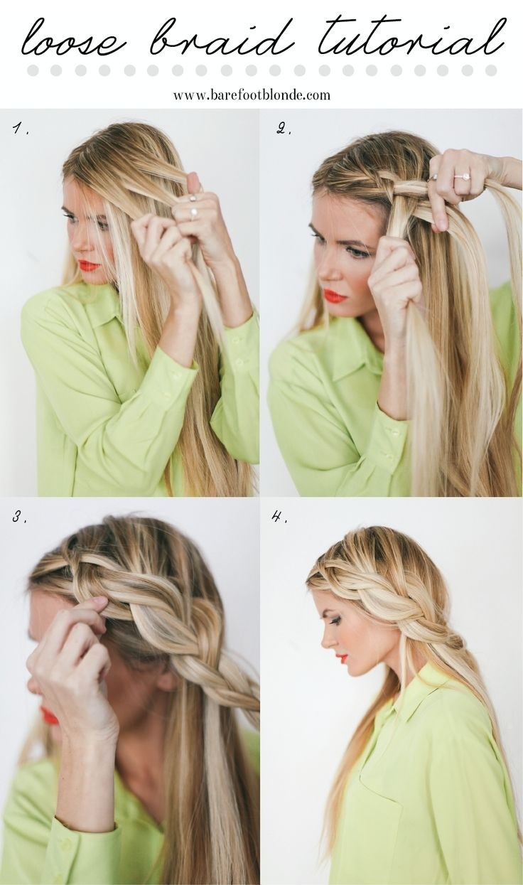 Loose page French braid tutorial