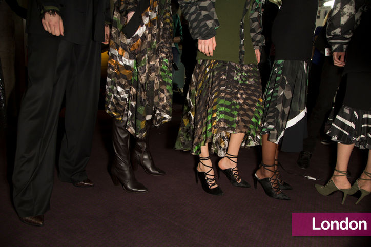 Stylish shoe trend for New York Fashion Week: Preen's lace-up shoes