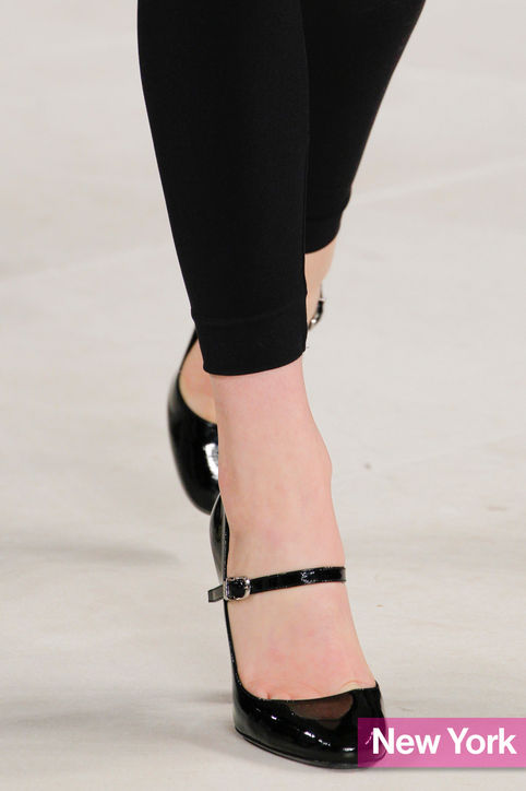 Stylish shoe trend for New York Fashion Week: Ralph Laurens Simple Mary Janes