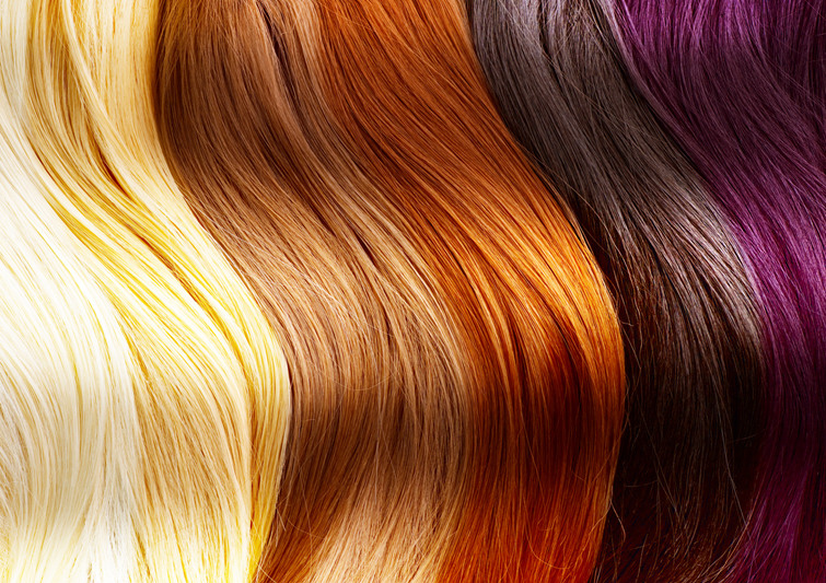 A range of hair colors