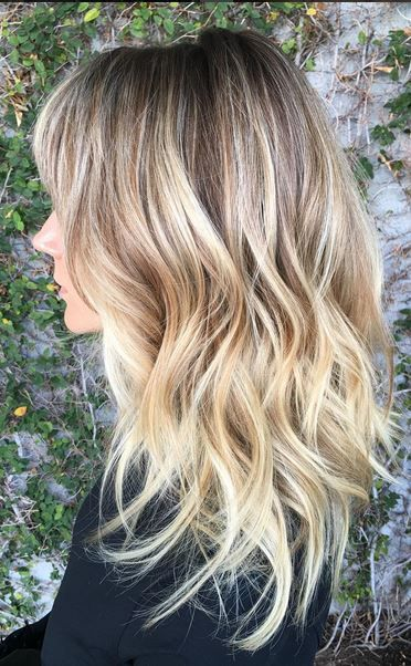 Blonde somber hairstyle