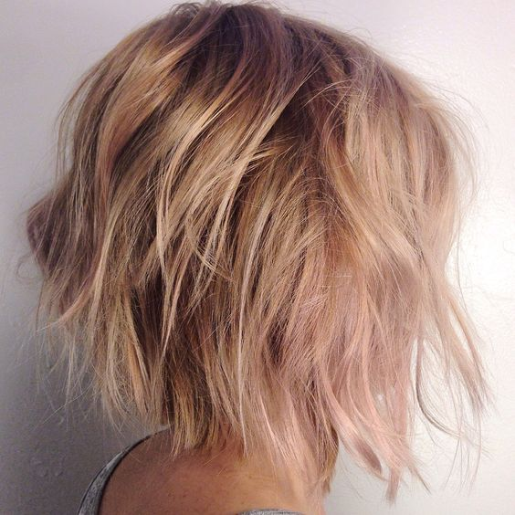 Chaotic bob hairstyle