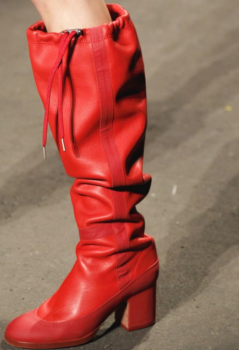 Rag & Bone Baggy Silhouette Candy Red Rain Boots