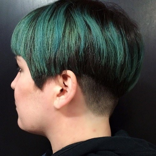 Emerald Bowl Hair