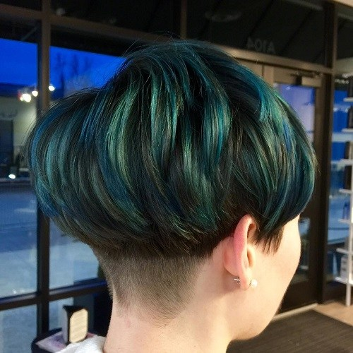 Blue and emerald bowl of hair
