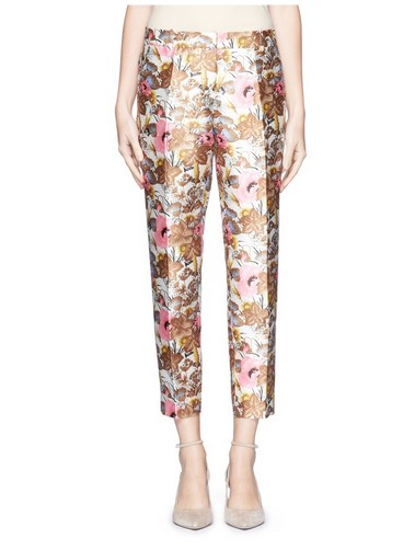J. CREW floral brocade trousers