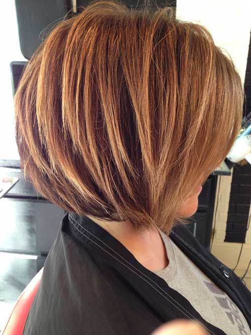 Two-tone stacked bob