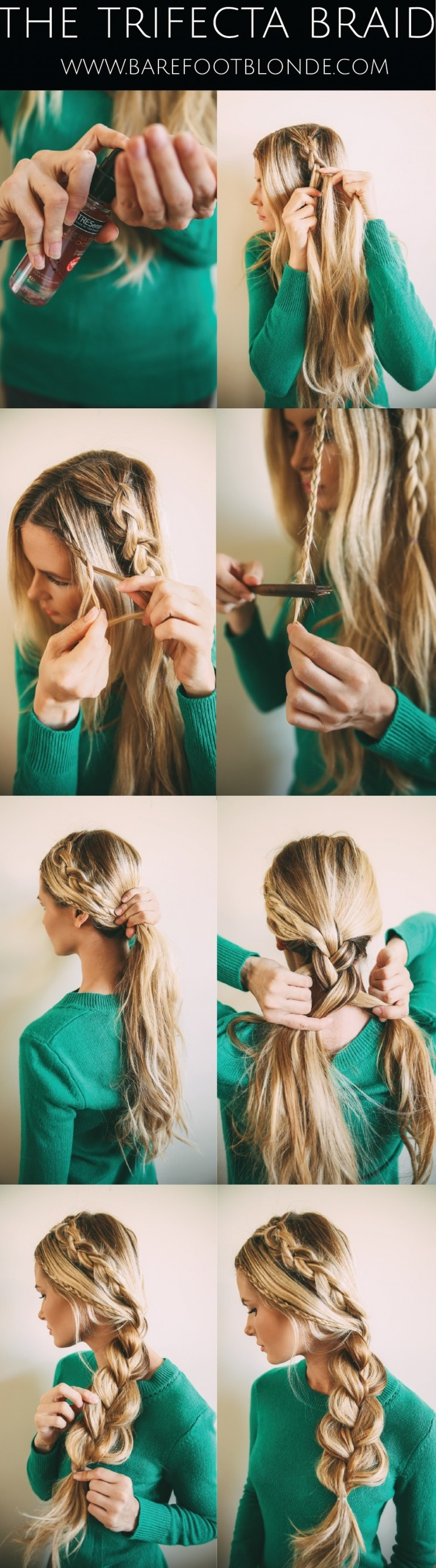 Boho-chic braid hairstyle