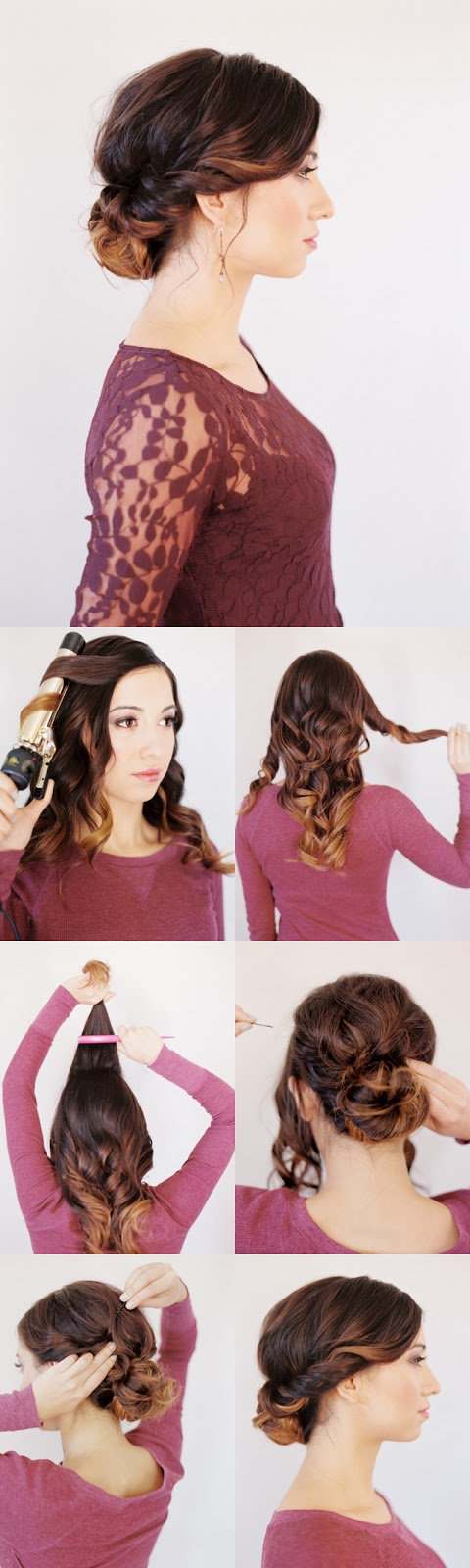 Twisted updo for women