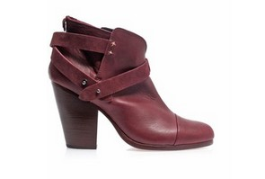 RAG & BONE Harrow leather & suede ankle boots, purple leather