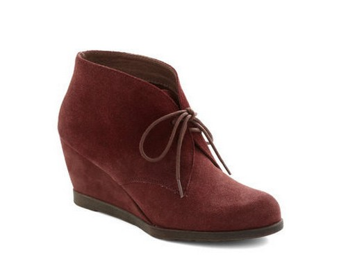 Awe My Loving Bootie, ankle boots, wine color