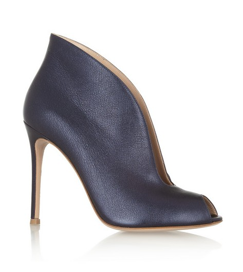 Gianvito Rossi cutout ankle boots in metallic leather