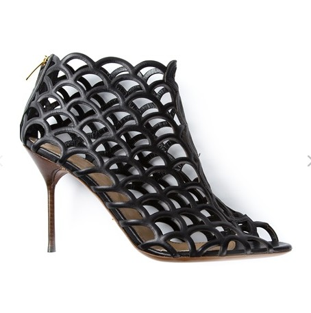 SERGIO ROSSI ankle boots, black