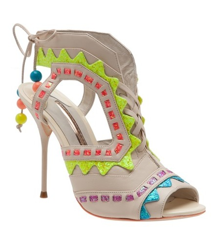SOPHIA WEBSTER & # 39; Rick Rack & # 39; Cutout bootie, multicolored