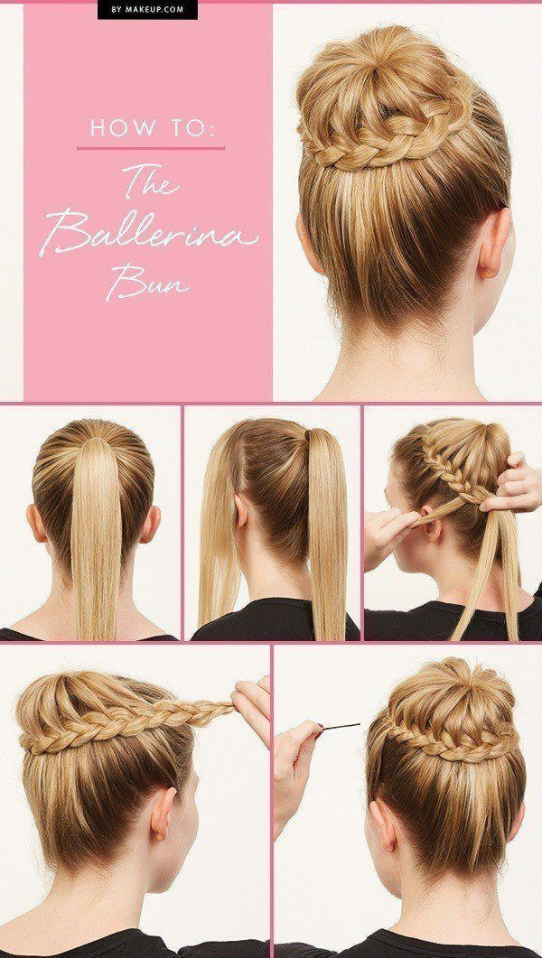 Ballerina bun hairstyle tutorial