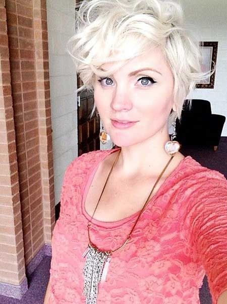 Messy short curly hairstyle