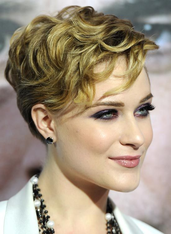 Layered curly pixie hairstyle