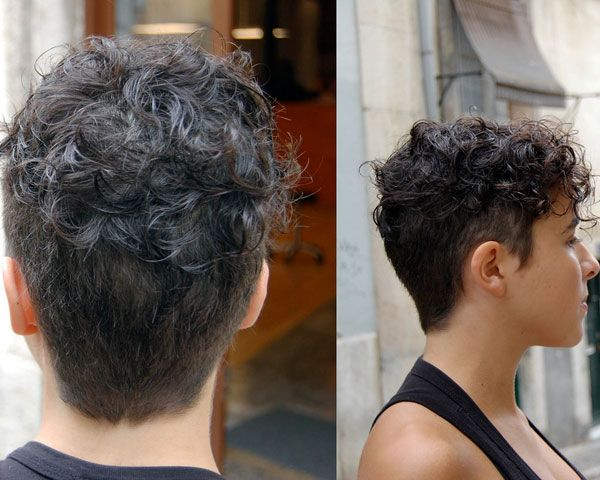 Curly pixie hairstyle for African American women