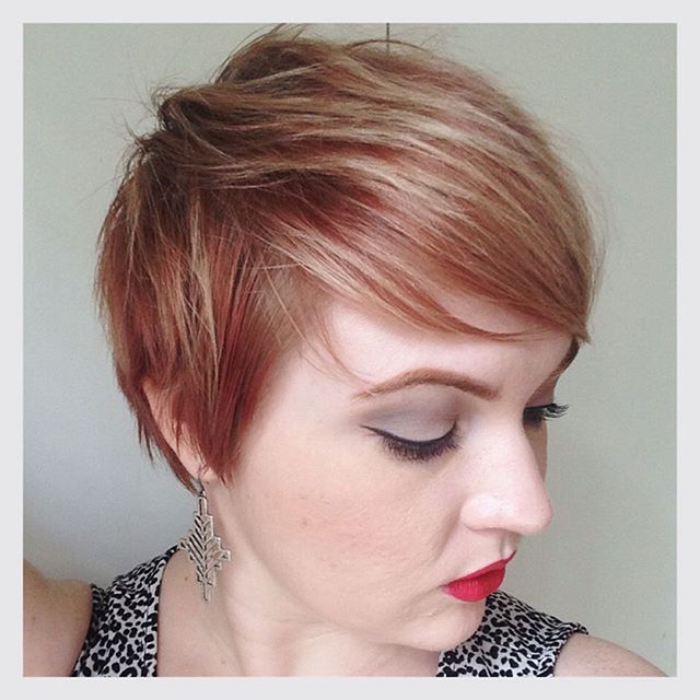 Edgy Pixie haircut for red hair