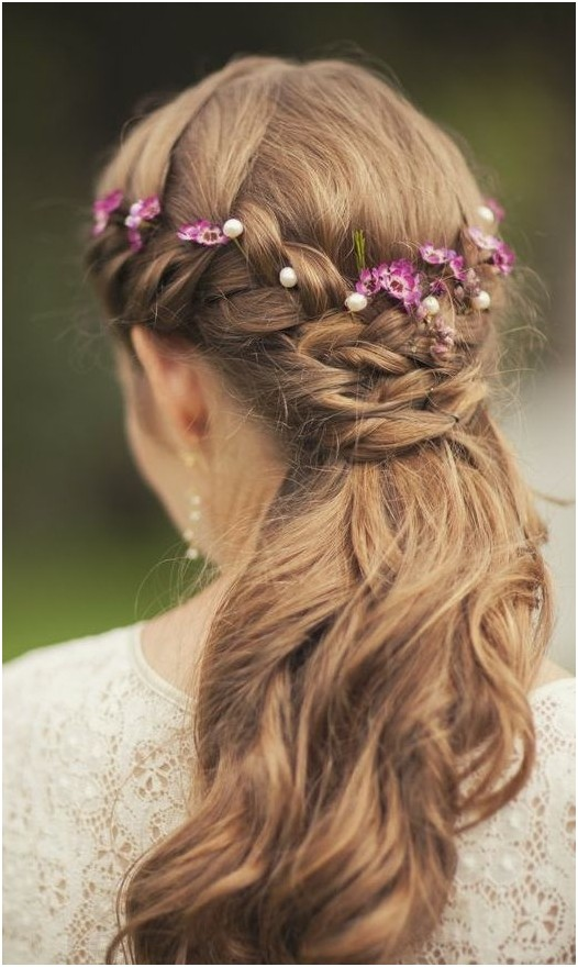 Easy Half Up Braid for wedding hairstyles