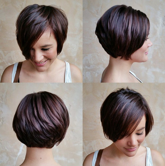 Stacked pixie hairstyle for women over 30