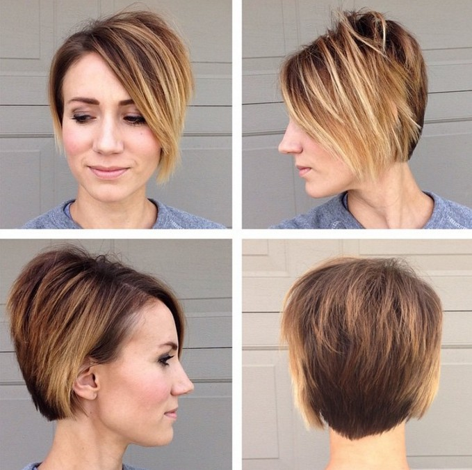 Ombre pixie hairstyle